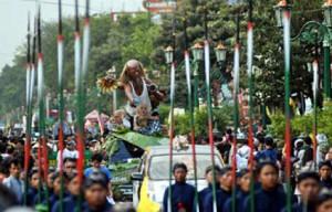 Unique carnaval Indonesia