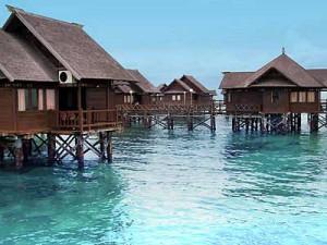 Floating Cottage at Beautiful Bidadari Island Jakarta Indonesia