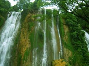 Beautiful Grojogan Sewu Waterfall Indonesia