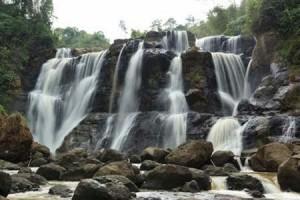 Beautiful Malela Waterfall The little Niagara at Indonesia