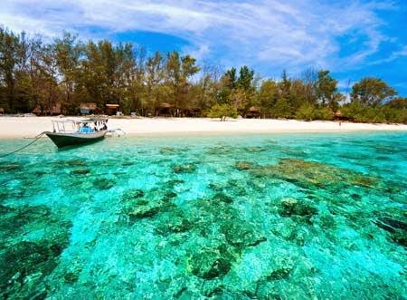 Beautiful Gili Trawangan Island indonesia