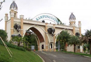 one stop recreation Kampung Gajah Wonderland Lembang Bandung