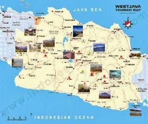 Peta wisata Jawa Barat