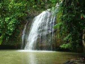 Beautiful Tanah Merah Waterfall Indonesia