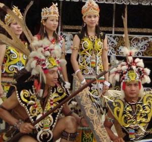 Pampang cultural village Samarinda Indonesia