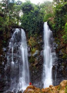 Beautiful Cinulang Waterfall Indonesia