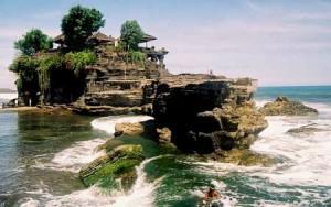Lokasi Pura Tanah Lot Bali