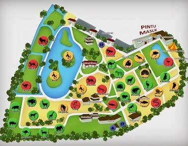 Denah dan peta Kebun Binatang Surabaya