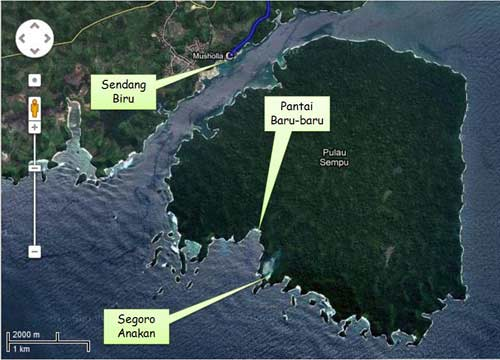 Pulau Sempu Malang map