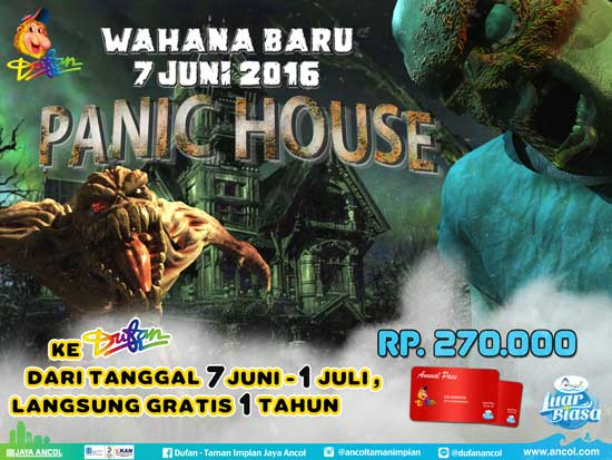 wahana terbaru dufan, panic house